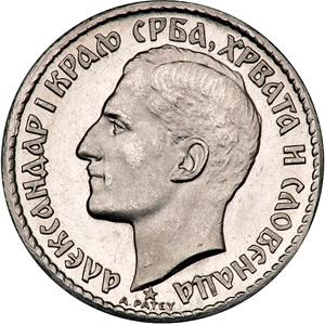 20 dinara 1925, otkov u platini - kronologija 75043
