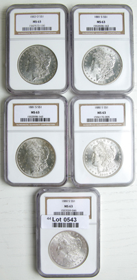 BRILLIANT UNCIRCULATED PRE 1921 MORGAN SILVER DOLLAR BLAST WHITE COIN