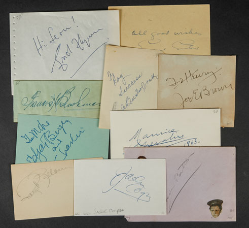 Martin Balsam Actor 1976 The Ritz Tv Movie Autographed Signed Index Card Autographs-original